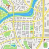 Mapa imaginário do vetor da cidade Fotos de Stock Royalty Free