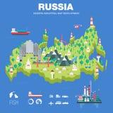 Mapa indystry liso do desenvolvimento moderno do país Foto de Stock