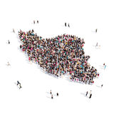 Mapa Irán de la forma del grupo de la gente Libre Illustration