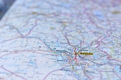 Mapa Irak, Bagdad obraz stock