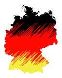 Mapa isolado de Alemanha 03 imagem de stock royalty free