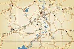 Mapa itinerario Fotos de archivo libres de regalías