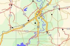 Mapa itinerario Fotografía de archivo libre de regalías