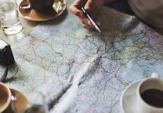 Mapa itinerario Imágenes de archivo libres de regalías