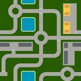 Mapa itinerario compuesto de elementos estándar Carreteras, intersecciones, cruces giratorios libre illustration