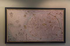 Mapa izolujący miasto Brugge obrazy stock