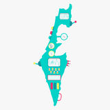 Mapa Izrael maszyna Obraz Stock