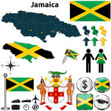 Mapa Jamajka Obraz Royalty Free