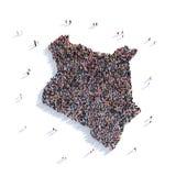 Mapa Kenia de la forma del grupo de la gente Fotografía de archivo