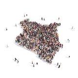 Mapa Kenia de la forma del grupo de la gente Stock de ilustración