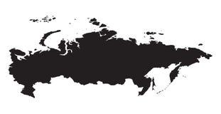 mapa kontynentalna polityczna Rosji Zdjęcie Royalty Free
