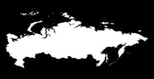 mapa kontynentalna polityczna Rosji Fotografia Royalty Free