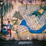 Mapa, La Boca, Caminito, Áries de Buenos, Argentina fotos de stock royalty free