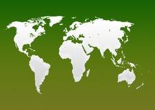 Mapa leitoso do verde do mundo ilustração do vetor