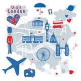 Mapa Londyn Zdjęcia Stock