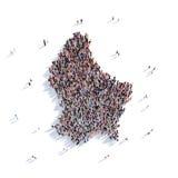 Mapa Luxemburgo da forma do grupo dos povos Imagens de Stock
