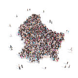 Mapa Luxemburgo de la forma del grupo de la gente Imágenes de archivo libres de regalías