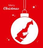 Mapa Mônaco do Feliz Natal Imagens de Stock Royalty Free