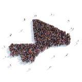 Mapa Malí de la forma del grupo de la gente Stock de ilustración