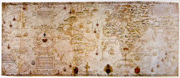 Mapa medieval do mundo Imagem de Stock Royalty Free