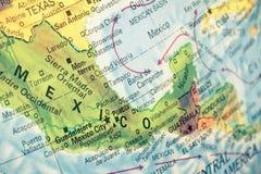 Mapa Meksyk zakończenia wizerunek Fotografia Royalty Free
