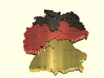 Mapa metálico de Alemanha Fotos de Stock