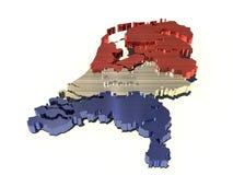 Mapa metálico de Holland Imagens de Stock