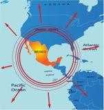 mapa Mexico Zdjęcie Stock
