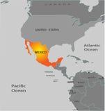 mapa Mexico Obraz Royalty Free