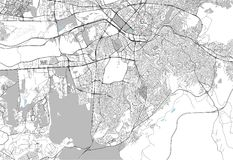 Mapa miasto Ankara, Turcja royalty ilustracja