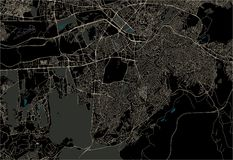 Mapa miasto Ankara, Turcja ilustracja wektor