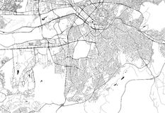 Mapa miasto Ankara, Turcja ilustracji