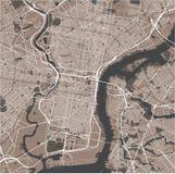Mapa miasto Filadelfia, Pennsylwania, usa ilustracja wektor