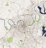 Mapa miasto Nashville, Tennessee, usa royalty ilustracja