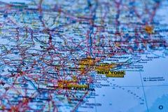 Mapa miasto Nowy Jork, w usa obraz stock