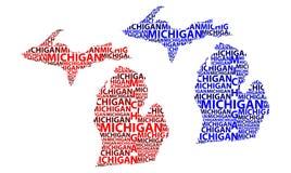 Mapa Michigan - wektorowa ilustracja Obrazy Stock