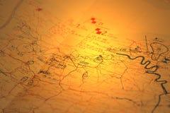 Mapa militarny B zdjęcie royalty free