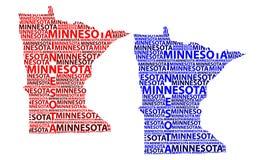 Mapa Minnestoa - wektorowa ilustracja Zdjęcia Royalty Free