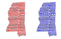 Mapa Mississippi - wektorowa ilustracja Zdjęcia Royalty Free
