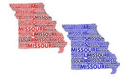 Mapa Missouri - wektorowa ilustracja Zdjęcie Stock