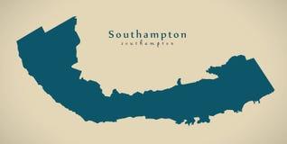 Mapa moderno - BM de Southampton Imagem de Stock Royalty Free