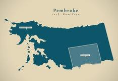 Mapa moderno - incluir do Pembroke BM de Hamilton Fotografia de Stock Royalty Free