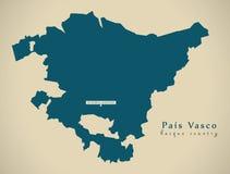 Mapa moderno - Pais Vasco Spain ES Fotos de Stock