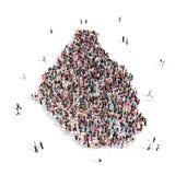 Mapa Montserrat de la forma del grupo de la gente Stock de ilustración