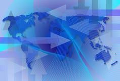 Mapa mundial do negócio Fotografia de Stock Royalty Free
