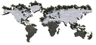 Mapa mundo Arkivfoto