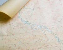 Mapa não identificado do topo Fotos de Stock