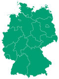 Mapa Niemcy Obraz Stock