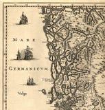mapa Norway stary fotografia stock