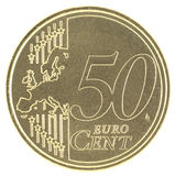 Mapa novo de Uncirculated 50 Eurocent Imagem de Stock